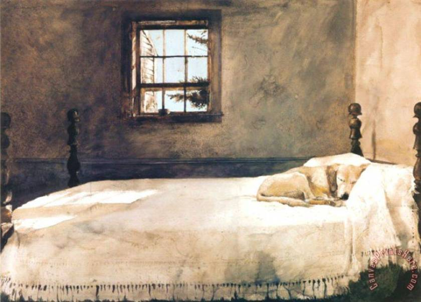 Master Bedroom Painting by andrew wyeth; Master Bedroom Art Print for sale